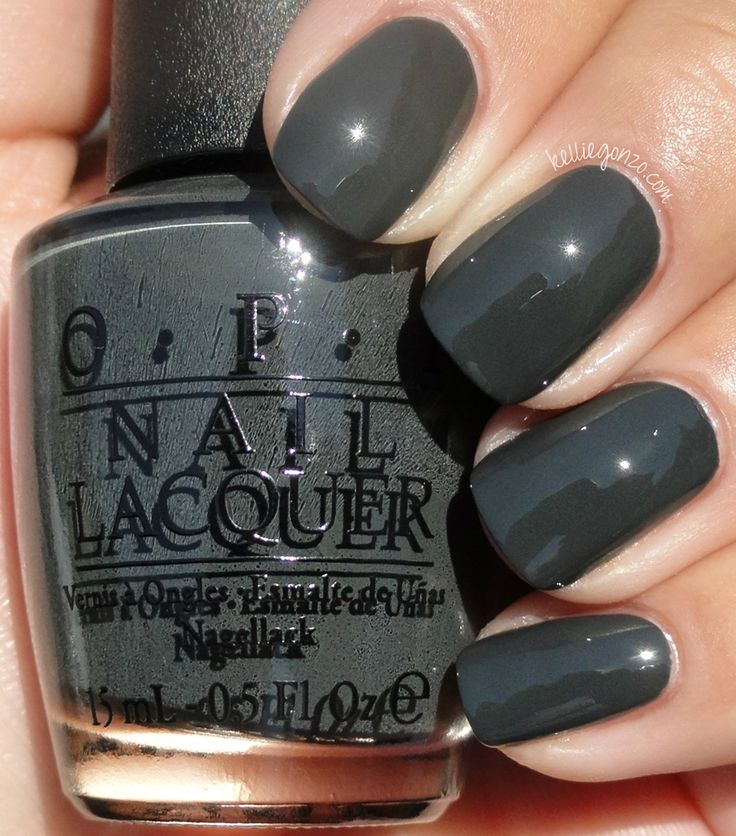 What Color Nail Polish With A Black Dress: Looking For A Grey Nail Polish. OPI