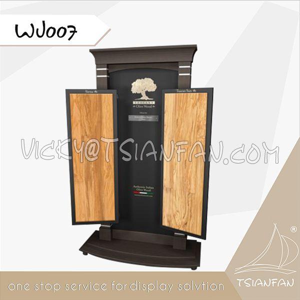 WJ007--Wood Tile Display Stands / Ceramic Tile Rack Display Shelf