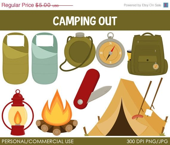 Camping 2 Clipart Digital Clip Art Graphics For By MareeTruelove