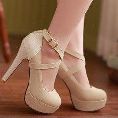 Criss Cross High Heel Pump Shoes - Daisy Dress For Less - 1