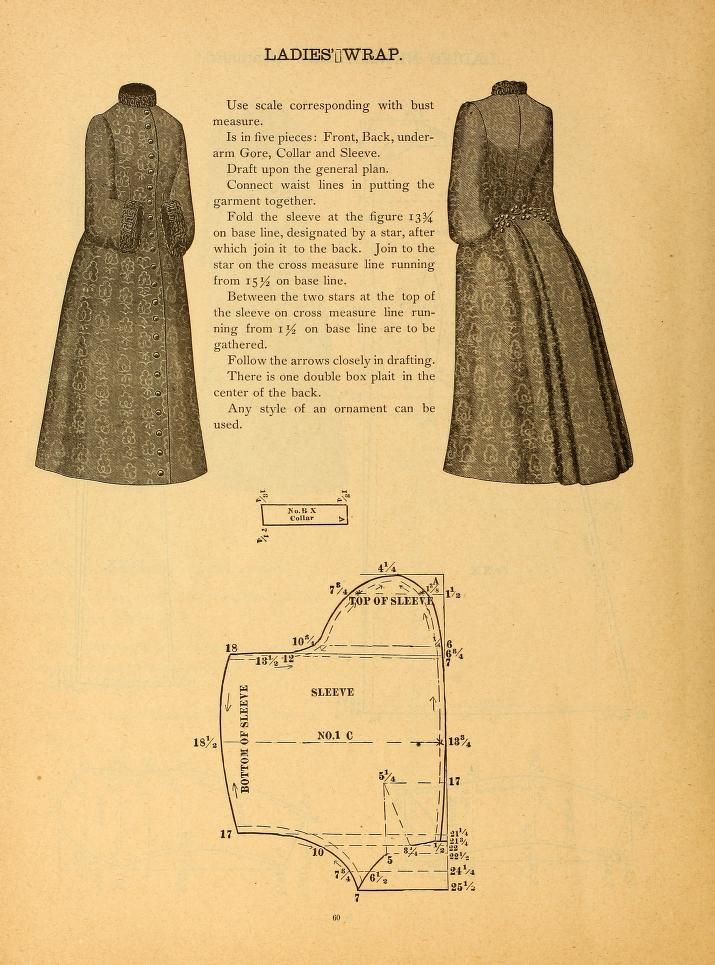 Magnificent Victorian Sewing Pattern Sketch - Blanket Knitting ...