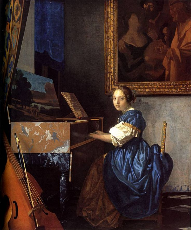 Young Woman Seated at a Virginal. Ян (Йоханнес) Вермеер
