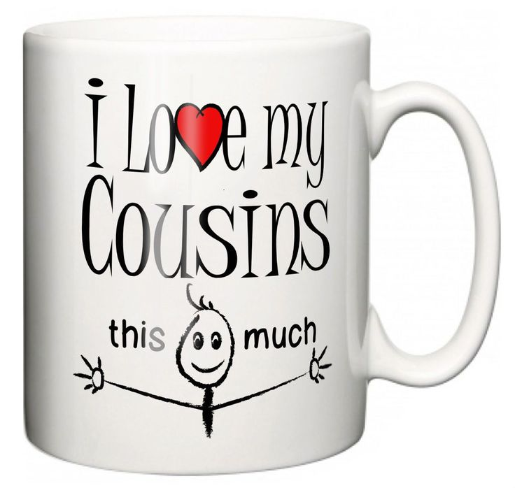 """""""I Love My Cousins This Much"""" Mug Christmas Gift Stocking Filler"""