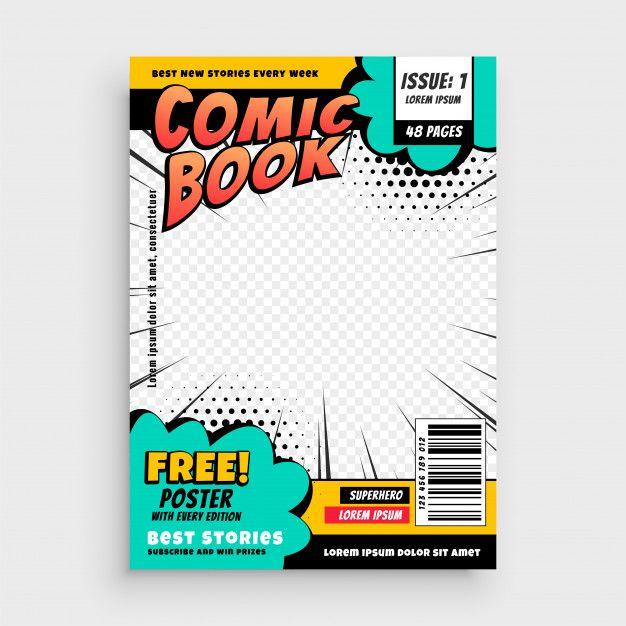 Download Comic Book Page Cover Design Concept For Free Book Cover Template Concept Design Cover Design