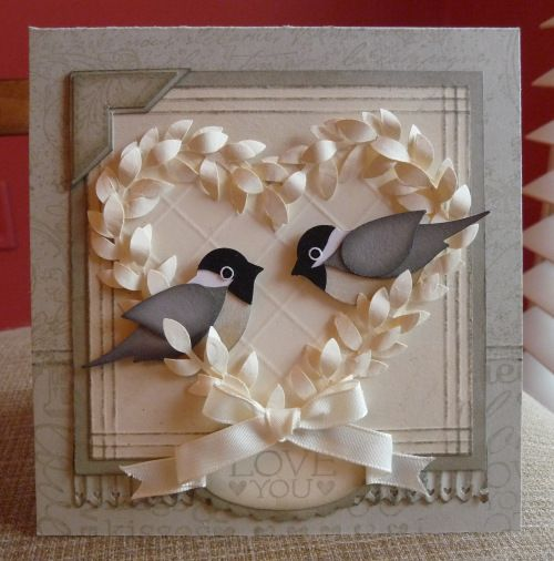 romantic chickadee valentine cards are real standouts