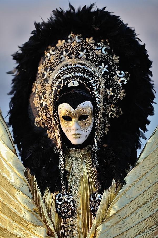Venice Carnival -- It looks like some sort of god figure.