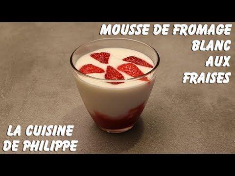 (1) Mousse de fromage blanc aux fraises - YouTube