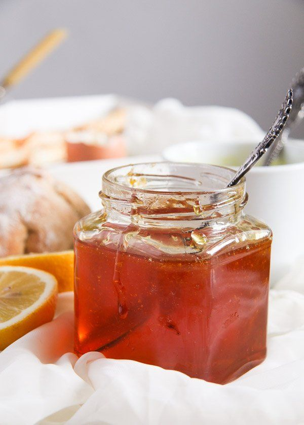 Delicious Jelly with Fresh Lemon and Clementine Juice