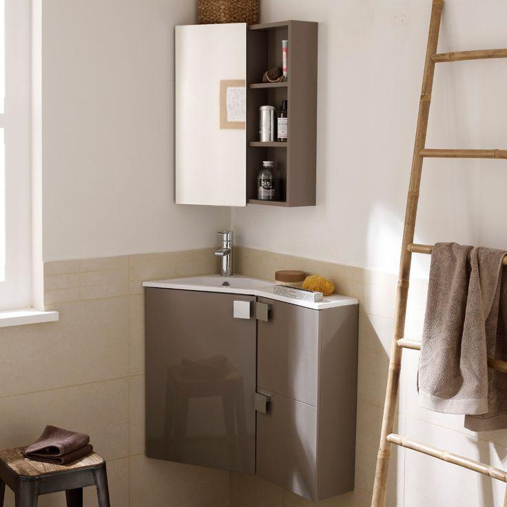 112 best salle de bains images on Pinterest Bathroom, Home ideas - meuble pour wc suspendu leroy merlin