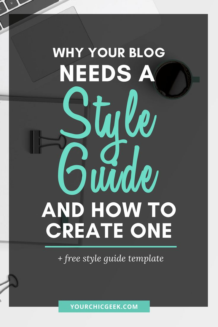 Creating a style Guide for your blog is easy! Check out this post to learn why your blog needs a style guide and how to create one