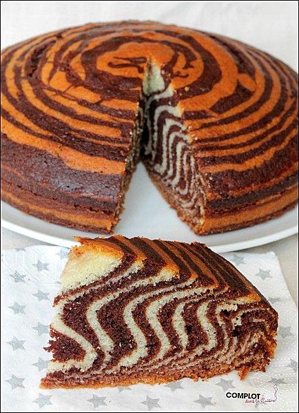 Gâteau tigré - trop facile à faire, et résultat bluffant !
