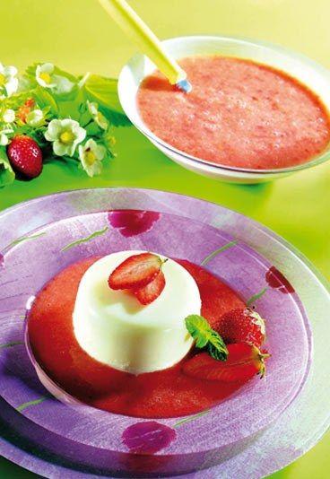 Panacotta : recette de pannacotta, panacota et pannacotta à la fraise - Minceur : cuisine minceur - recette minceur et light - aufeminin