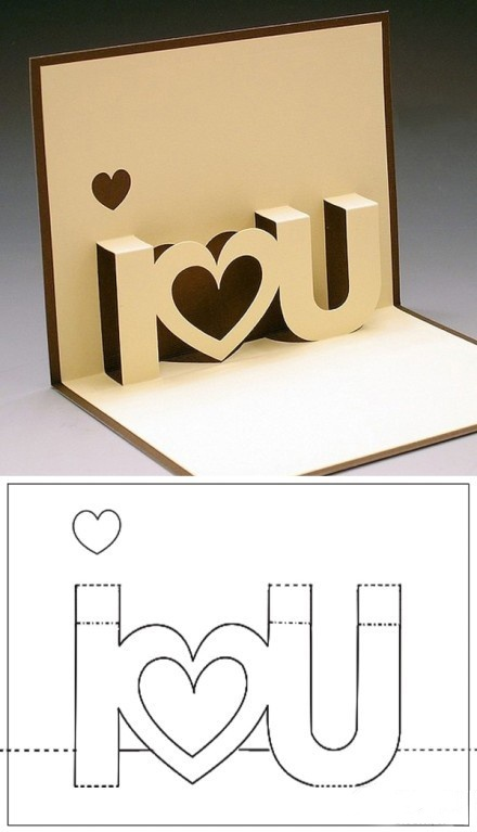 I love you pop up card
