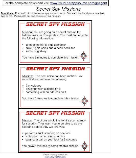 Send Your Child On A Secret Mission For Pretend Play