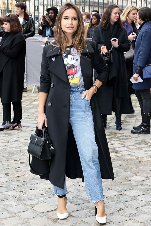 Miroslava Duma look t-shirt do mickey