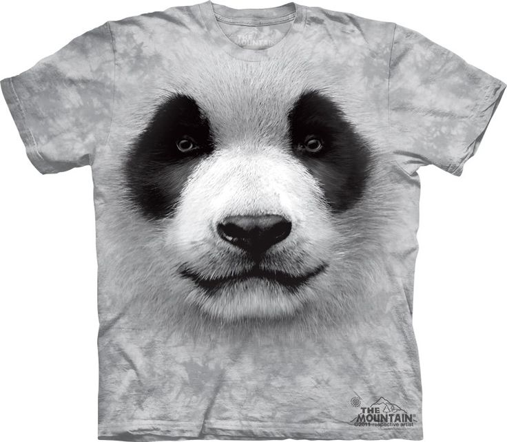 Panda Face Shirt by the Mountain @ Epic-Shirts.com - Available at website