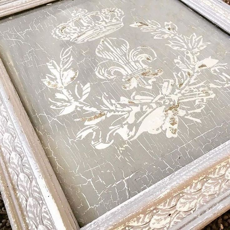 This art piece by @cgchicdesigns is SO beautiful and a great example of the amazing thing that happens when you layer a variety of products and techniques!  A great crackle background created with Crackle Tex, a raised stencil design with our Fleur de Lis Stencil and Pearl Plaster, and a few metallic gold foil accents...pretty enough to put in a frame!