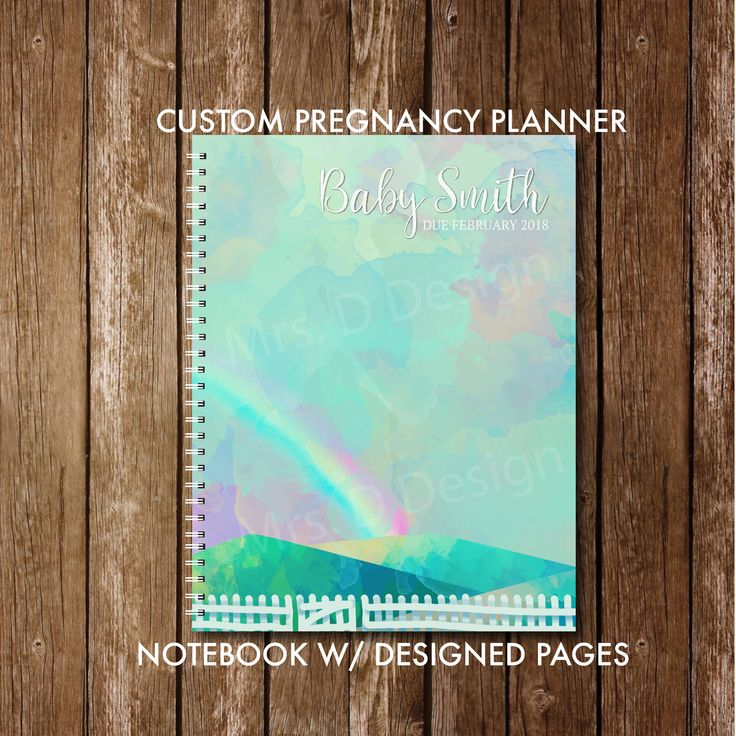 Personalized pregnancy diary with pre-made plans + diary presentation, Rainbow Baby Plan …   – Baby Things