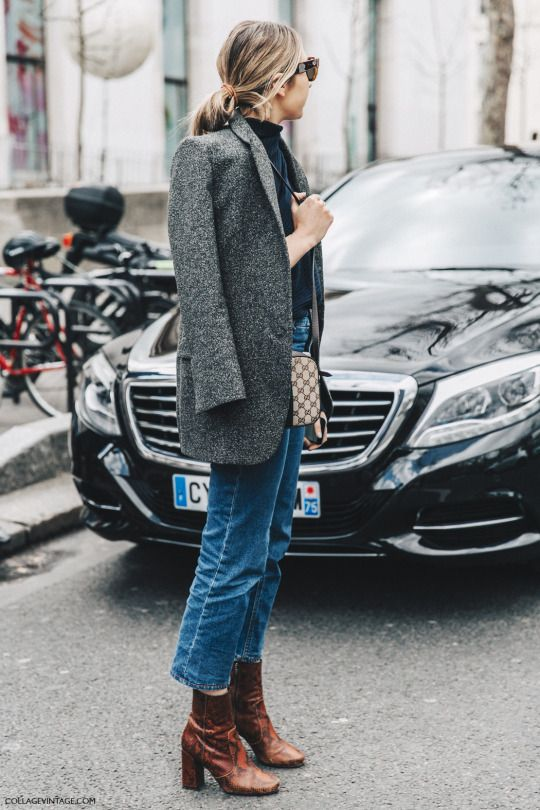 Parisienne: HOW TO WEAR KICK FLARE JEANS