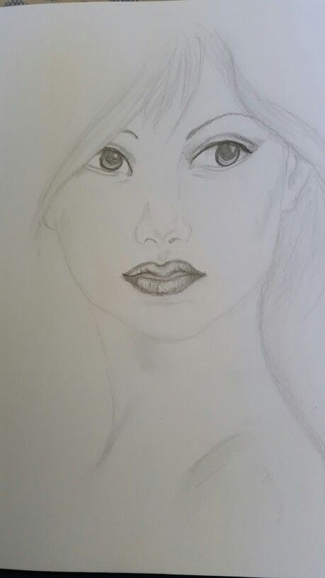 Oriental lady - in graphite
