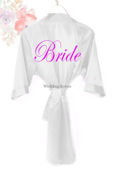 7fc11f7054 Stunning Bride Silk Satin Dressing Gown