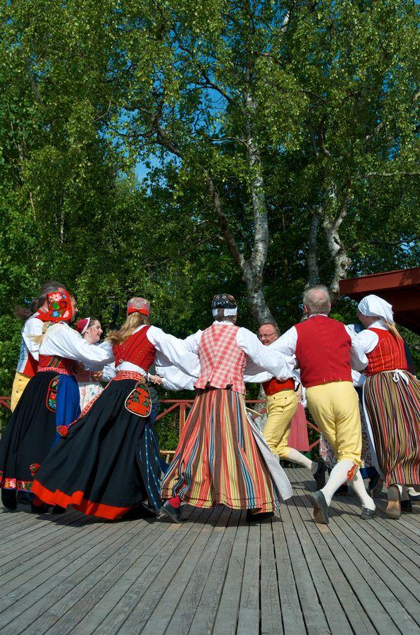 Skansens Folkdans Group Skansen Djurgården, Stockkholm, Sweden