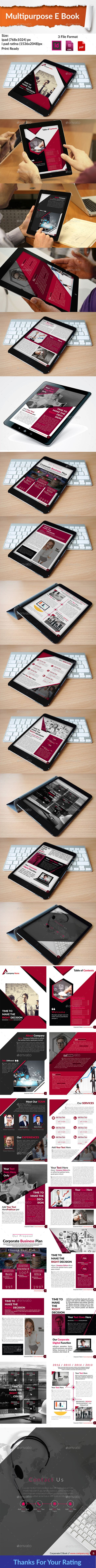 #Multipurpose E Book - Digital #Magazines #ePublishing Download here: https://graphicriver.net/item/multipurpose-e-book/19181445?ref=alena994