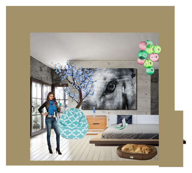 """Egy tini szobája"" by kecskesemmaveda on Polyvore featuring interior, interiors, interior design, home, home decor, interior decorating, Ready2hangart, Dot & Bo, Lava and Fatboy"