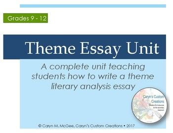 Pay to write a paper about theme analysis