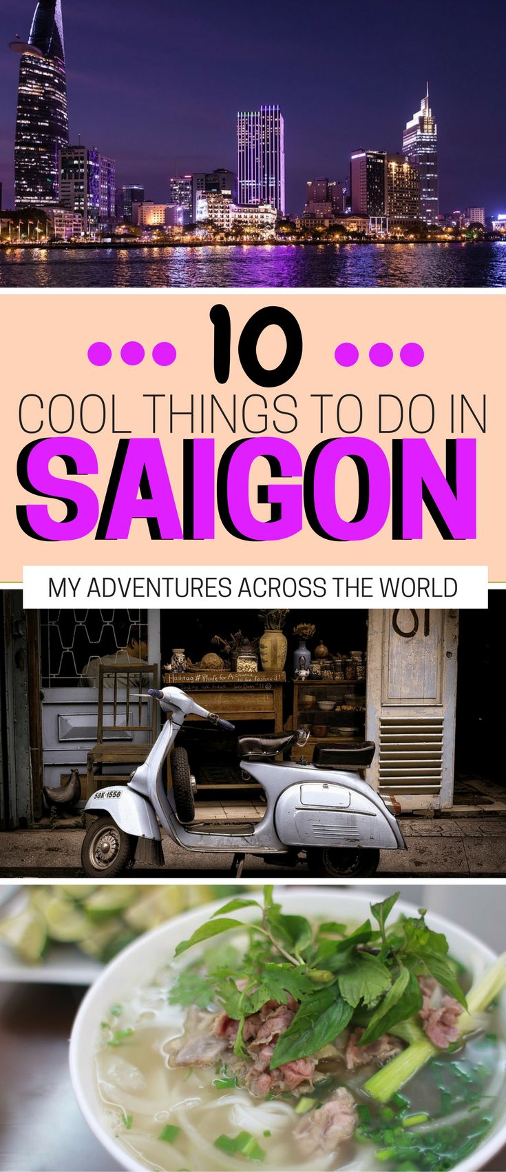 The 10 best things to do in Saigon, Vietnam: from the cultural activities to the delicious food, this post will help you decide what to do in Ho Chi Minh.   Saigon travel bucket lists   Ho Chi Minh things to do   What to see in Saigon #saigon #hochiminh - via @clautavani