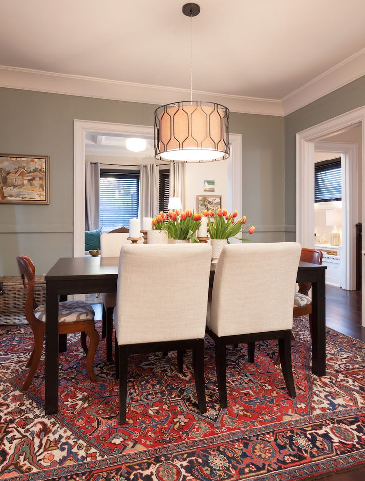 A traditional dining room from hgtv 39 s income property for Traditional dining room pinterest