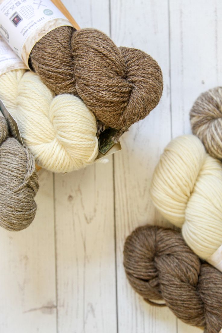 Like natural wool? West Yorkshire Spinners offers a range of single-breed 100% British wool yarns in undyed colors, from BFL to Wensleydale
