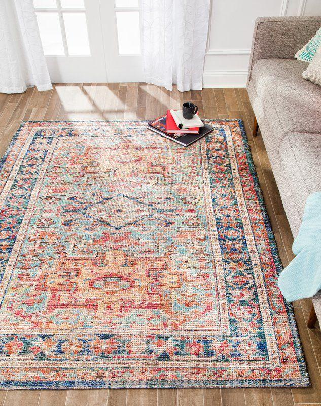 Hartville Distressed Handwoven Flatweave Red Blue Area Rug In 2020 Rugs Beige Carpet Area Rugs