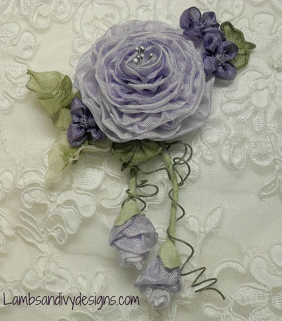 Lilac Rose with violets by lambsandivydesigns.com, via Flickr
