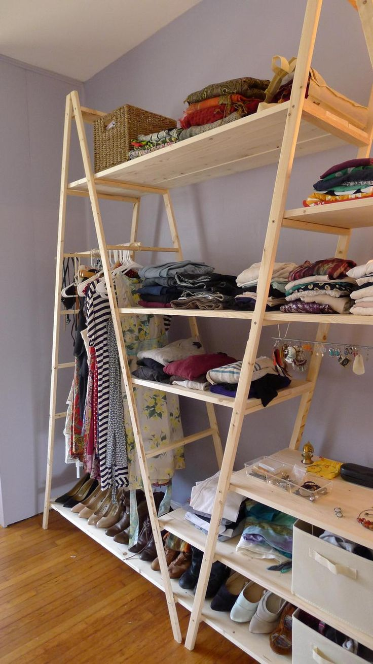 This Started Out As An Ordinary Ladder. Just Wait Until You See How This Guy Turned It Into an additional closet.