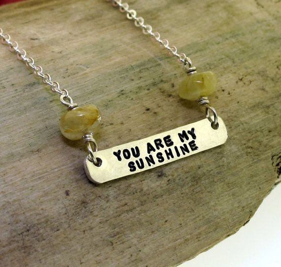 You Are My Sunshine sterling silver and by KathrynRiechert on Etsy
