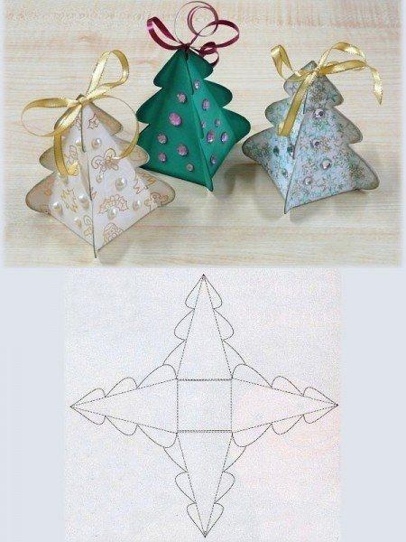 Folded Christmas tree box style. Image only.   js