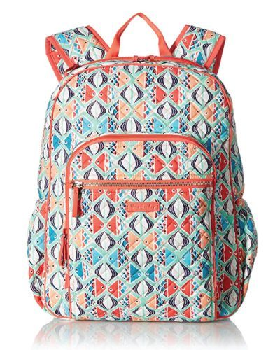 589c88de699e Popular Vera Bradley Iconic Campus Backpack. Colorful kissing fishes  pattern. (Cute Backpacks For Teen Girls)