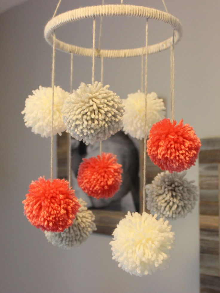 Pom Pom Mobile by PreciousPoms on Etsy www.etsy.com/...