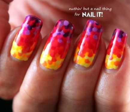 Nail Art Tutorial: Rainbow Fish Scale Manicure