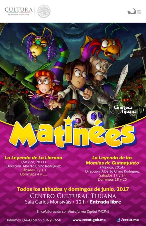 ¡Matinées en la Sala Carlos Monsiváis de la Cineteca Tijuana - CECUT!