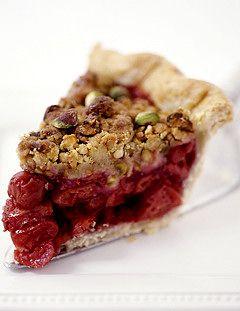 Sour Cherry Pie with Pistachio Crumble | Sweets Pie, Tarts & Cobblers ...