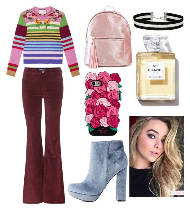 """Sabrina carpenter"" by veronika-grabanova on Polyvore featuring M.i.h Jeans, Gucci, Charlotte Russe, Kate Spade and Miss Selfridge"