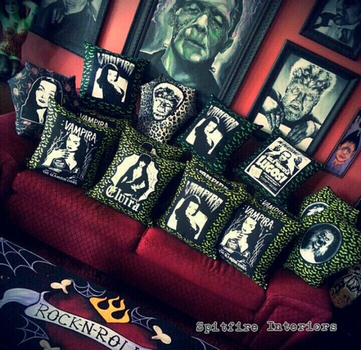 Horror themed pillow cases