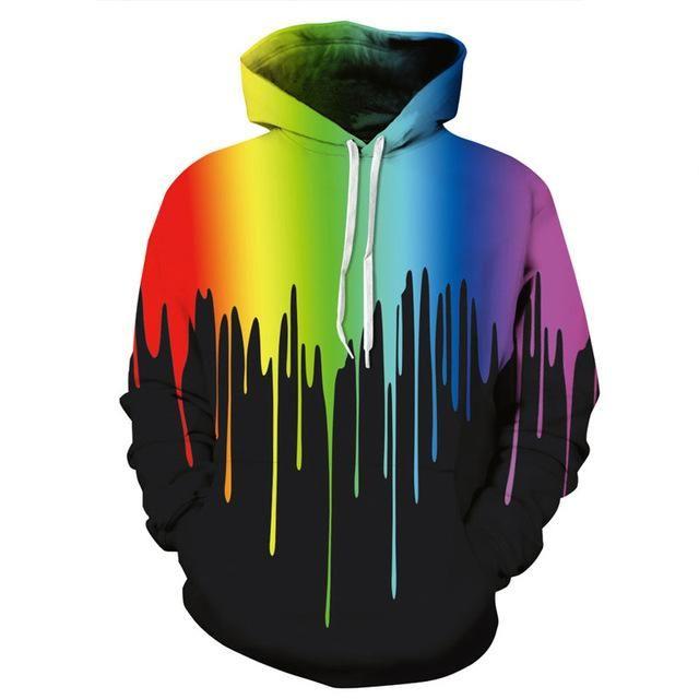 Paint Spill Pullover Hoodie #hoodie | Mens sweatshirts