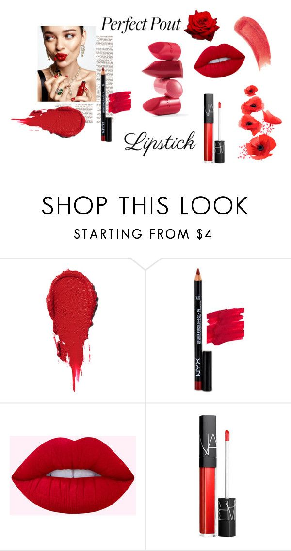 """Pucker Up: Spring Lips"" by regina186 ❤ liked on Polyvore featuring beauty, KAROLINA, NYX, NARS Cosmetics, Rossetto, Sisley and springlips"
