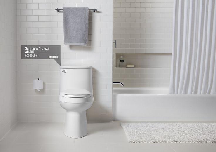 Moderniza tus baños con un sanitario ergonómico y ahorrador Elevado rendimiento y cómodo diseño (Comfort height) son las palabras que mejor definen al SANITARIO ADAIR con mecanismo economizador de agua, cuyo consumo promedio es de 4,8 litros de por descarga. ... Leer más. bit.ly/1e7BYXV #ideasdecor #decorceramica #decoracion #baños #diseño #kohler #porcelanasanitaria