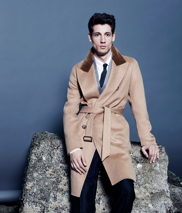 Nicolas Ripoll Models Winter Coats for Wall Street Journal