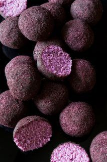 #vegan Purple Sweet Potato Balls from Deviliciously Raw