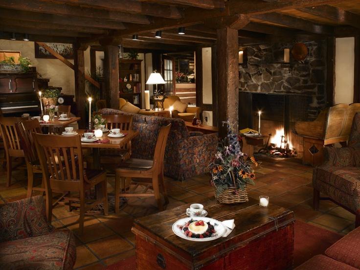 Enjoy coffee & dessert in the Ski Tip Lodge Lounge in front of the romantic fire. Keystone Resort, CO. www.keystoneweddings.com